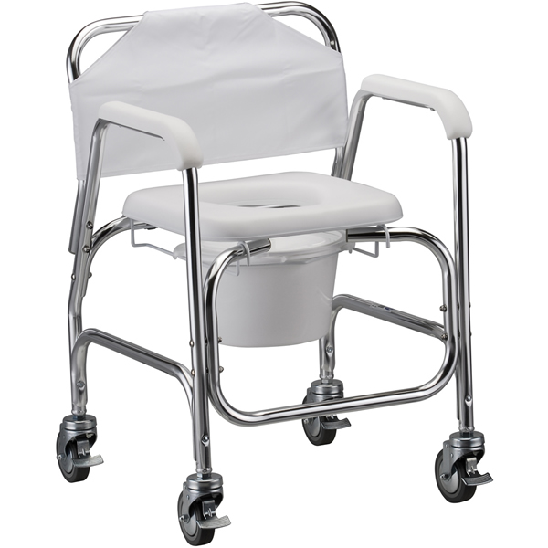 Tub Chairs With Casters Commode Shower Chair with Wheels | Shower Wheelchairs